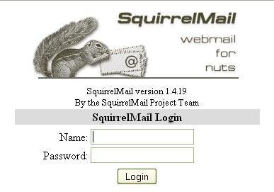 SquirrelMail Login Page
